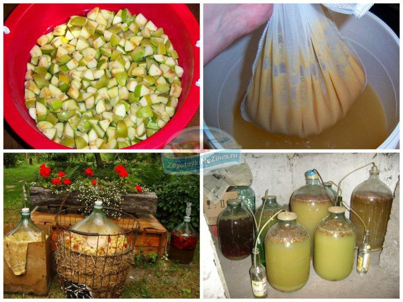 Рецепты домашнего вина из яблок в домашних  909