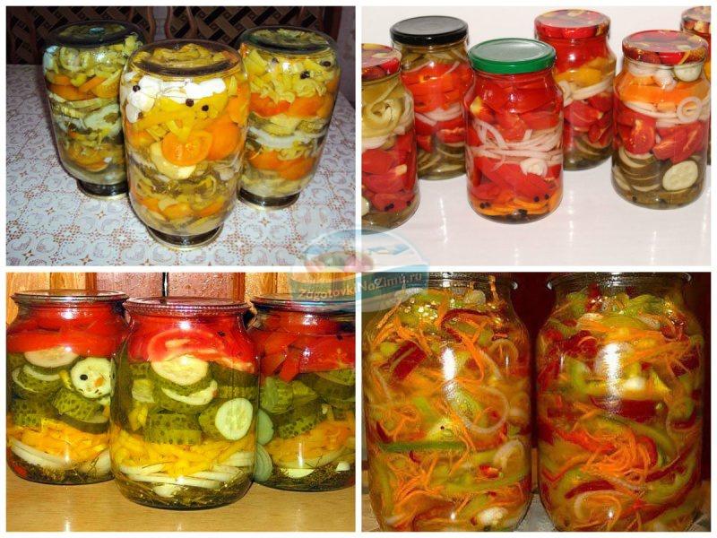 Салат с помидорами и огурцами на зиму с